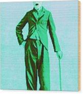 Charlie Chaplin The Tramp 20130216m150 Wood Print