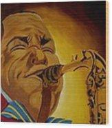 Charlie Parker-legends Of Jazz Wood Print