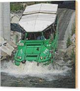 Charlie River Splash Down Wood Print