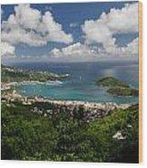 Charlotte Amalie Harbor Wood Print