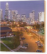 Charlotte Blue Hour  Wood Print by Abe Pacana