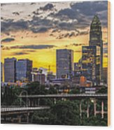 Charlotte Dusk Wood Print by Chris Austin