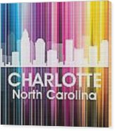 Charlotte Nc 2 Wood Print by Angelina Vick