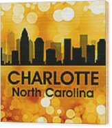 Charlotte Nc 3 Wood Print by Angelina Vick