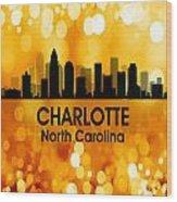 Charlotte Nc 3 Squared Wood Print