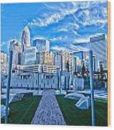 Charlotte Nc Usa - Charlotte Skyline  Wood Print