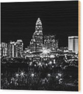 Charlotte Night Wood Print