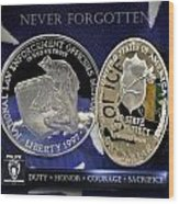 Charlotte Police Memorial Wood Print by Gary Yost