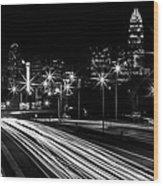Charlotte Flow B/w Wood Print