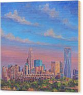 Charlotte Skies Wood Print