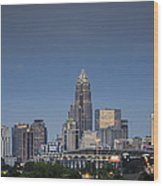 Charlotte Skyline - Clear Evening Wood Print