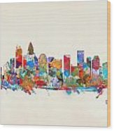 Charlotte Skyline North Carolina Wood Print