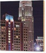 Charlotte Skyscraper Wood Print