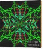 Charlotte's New Freakin' Awesome Neon Web Wood Print