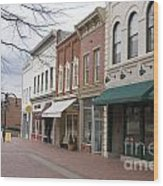 Charlottesville Virginia Downtown Mall Wood Print