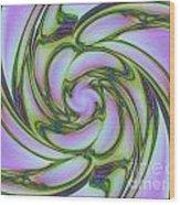Charlotte's Crazy Spring Web Wood Print