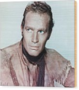 Charlton Heston In Pony Express  Wood Print by Silver Screen