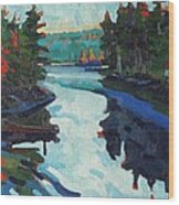 Charlton Lake Camp Sunrise Wood Print