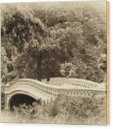 Charm Of Bow Bridge Wood Print