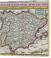 Charming Old World Map Wood Print