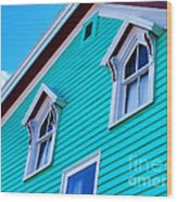 Charming Sleepy Seaside Home Wood Print by Patricia L Davidson