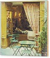 Charming Street Still Life Wood Print