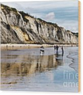 Charmouth Beach Wood Print