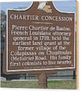 Chartier Concession Wood Print