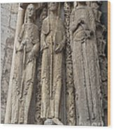 Chartres Cathedral Saints Wood Print