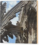 Chartres Flying Buttress Wood Print