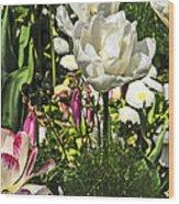 Chartres Garden White Wood Print