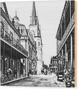 Chartres St In The French Quarter 3 Wood Print
