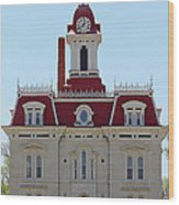 Chase County Courthouse In Kansas Wood Print