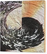 Chasing The Dragon's Tail Wood Print