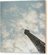 Chasing The Dream Paris Eiffel Tower Wood Print