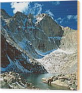 Chasm Lake Wood Print
