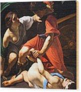 Chastisement Of Cupid  Wood Print