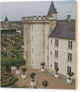 Chateau And Garden - Villandry Wood Print