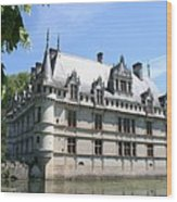 Chateau Azay-le-rideau From The Gardens  Wood Print