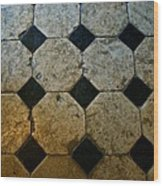 Chateau Brissac's Tile Floor Wood Print