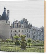 Chateau  Chenonceau And Garden Wood Print