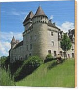 Chateau De Cleron Dans Le Doubs France Wood Print