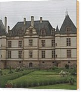 Chateau De Cormatin  And Garden - Burgundy Wood Print