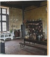 Chateau De Cormatin Kitchen - Burgundy Wood Print