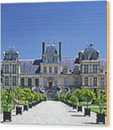 Chateau De Fontainebleau Ile De France Wood Print