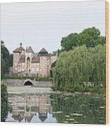 Chateau De Sercy - Burgundy Wood Print