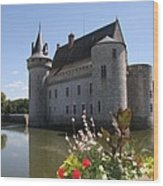 Chateau De Sully-sur-loire And Moat Wood Print