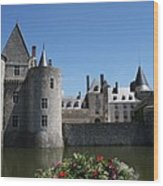 Chateau De Sully-sur-loire View Wood Print