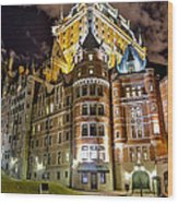Chateau Frontenac Wood Print