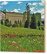 Chateau Lake Louise In Banff Np-alberta Wood Print